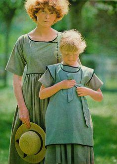DIY vintage, couture, tricot, loisirs créatifs, années 70: Tabliers Amish pour femme