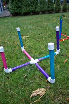 Easy PVC Ring Toss Game - from Sowdering About blog