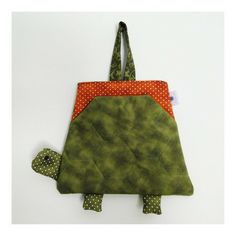 Lixinho de carro acolchoado - tartaruga 2 patas - FashionArts - Artesanatos da Moda