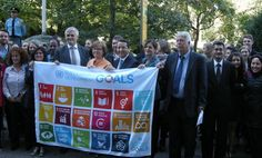 Sustainable Development Goals Flag Ceremony at the International Environment House Sustainable Development, New Media, Sustainability, Environment, Around The Worlds, Challenges, Flag, Goals, Geneva