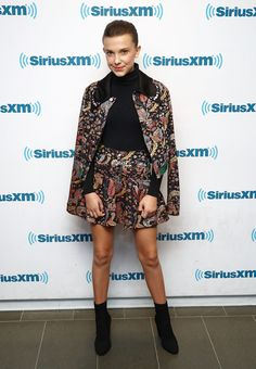 Millie Bobby Brown Ankle Boots - Millie Bobby Brown chose a pair of black ankle boots to finish off her suit.