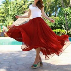 Hey, I found this really awesome Etsy listing at https://www.etsy.com/ru/listing/155903213/wine-red-chiffon-skirt-maxi-skirt-long