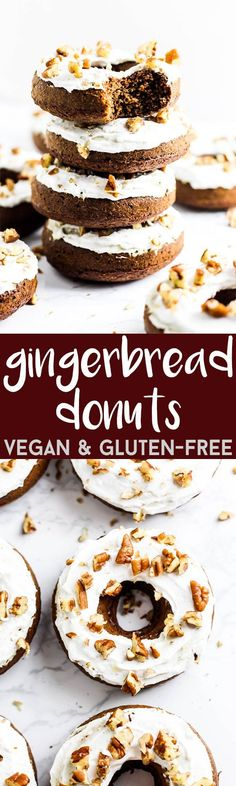 You won't believe these fluffy, delicious Gingerbread Donuts are vegan & gluten-free! They're the perfect dessert to make for the holidays. Or any day!