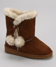 Take a look at this Chestnut Sheep Boot - Kids by Toasty Toes: Girls' & Women's Boots on #zulily today!