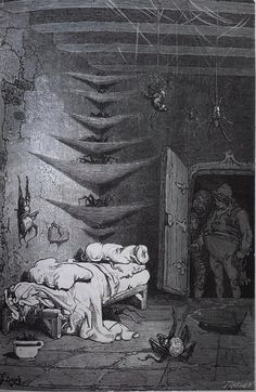 Illustrated by Gustave Dore from La Legende de Croquemitaine written by Ernest Lepine. 1870.