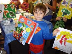 Wee superhero at our holiday programme. Isn't he a cutie!