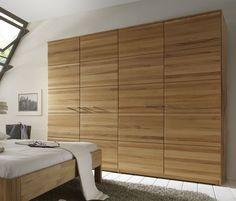 Schlafzimmer-Schranksystem aus massiver Kernbuche - Anjo