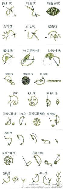 刺绣 · 针法集 - - 白_Bai.com