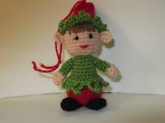 un duendecillo navideño, tejido a crochet