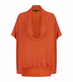 [consider neckline for Norah Gaughan's Cowl Neck Top in Vogue] -- Ralph Lauren Black Label Cowl Neck Sweater