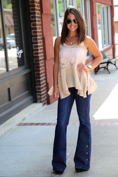 High waisted flare jeans The Rage..... Oh man I'm in love