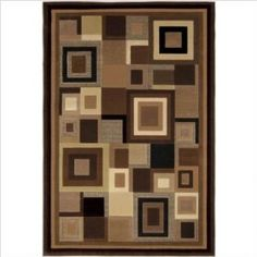 Catalina Black / Brown Contemporary Rug Size: 33` x 52`