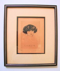 French Antique Original COLETTE Framed FEMALE by therecyclingethic