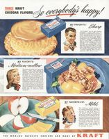 Kraft Cheddar Cheese 1947 Ad Picture