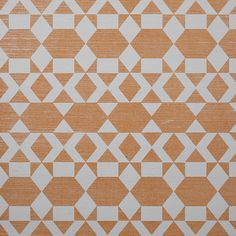 Prints Nomadic 6186 in Ochre on White Manila Hemp