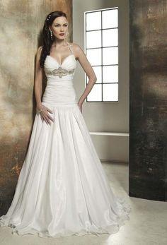 Chapel Train Organza Wedding Dress