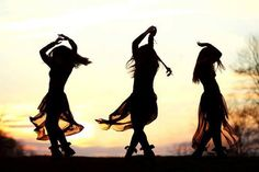 Wild woman dancers doing nataraj dance meditation