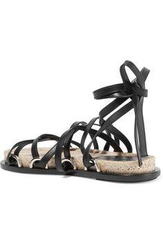 Alexander Wang - Adriana Leather Espadrille Sandals - Black - IT35