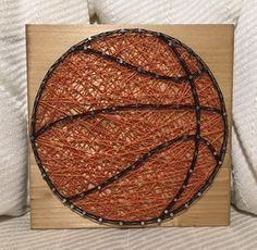 """Ready to ship basketball string art! Size is approx. 7"""" by 7"""", comes as pictured. Will ship tomorrow"""