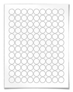 "WL-5275: 0.75"" circle labels perfect for HERSHEYS KISSES. 108 labels per sheet. Download free blank label templates for this size here: http://www.worldlabel.com/Pages/wl-ol5275.htm"