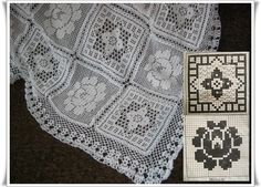 Um Classico:O Filé Colcha ...  /   A Classico: The Fillet Bedspread ...