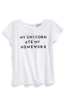 'My Unicorn Ate My Homework' Graphic Tee  Follow @ pin addict