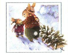 New Christmas Tree Illustration Susan Wheeler Ideas Tree Illustration, Christmas Illustration, Illustrations, Christmas Scenes, Christmas Animals, Christmas Art, Christmas Bunny, Susan Wheeler, Beatrice Potter