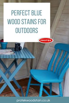 Every blue wood stain and paint you will need for outdoor and exterior wood projects. Could be tables, benches, fences, furniture and decks plus loads more in dark and light blue colours. Blue Wood Stain, Wood Stain Colors, Backyard Furniture, Outdoor Furniture Sets, Outside Living, Light Blue Color, Wood Surface, Weathered Wood, Fences