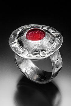 Love this red domed sea glass ring. Sea Glass Ring, Sea Glass Jewelry, San Diego Beach, Bingo, Rings For Men, Handmade Jewelry, Red, Men Rings, Handmade Jewellery