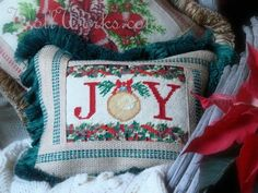 Joy Reclaimed needlepoint Pillow Slip