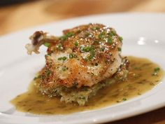 Get Pan Seared Chicken Breast with Herb Jus and Potato-Vegetable Hash Recipe from Food Network