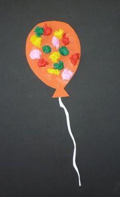 Balloons for the little ones - Carnival crafts - My grandchildren Luftballons für die Kleinsten – Fasching-basteln – Meine Enkel und ich Balloons for the little ones – Carnival crafts – My grandchildren and me - Daycare Crafts, Toddler Crafts, Preschool Crafts, Diy And Crafts, Crafts For Kids, Arts And Crafts, Paper Crafts, Preschool Age, Circus Crafts