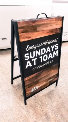 40 Super Ideas For Exterior Signage Wood Front Doors Church Lobby, Church Foyer, Church Office, Church Interior Design, Church Stage Design, Church Welcome Center, Sidewalk Signs, Deco Restaurant, Exterior Signage