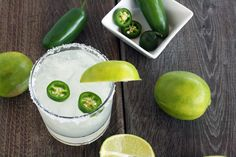 lime margarita Cocktail Friday is here (and I KNOW we've all been looking forward to it)! So, without further ado, here is The Hubs: Happy Friday, folks. Im so happy were back here ag Refreshing Drinks, Fun Drinks, Yummy Drinks, Beverages, Party Drinks, Cocktails, Cocktail Recipes, Drink Recipes, Jalapeno Margarita