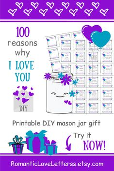 This PRINTABLE DIY kit of 100 Reasons Why I Love You is excellent romantic gift for him (sentimental gift for boyfriend)! 😌💕 Please visit our website to buy it now! I Love You Quotes For Boyfriend, Perfect Gift For Boyfriend, Homemade Gifts For Boyfriend, Boyfriend Gifts, Boyfriend Letters, Sentimental Gifts For Men, Romantic Gifts For Him, Personalised Gifts For Him, Meaningful Gifts