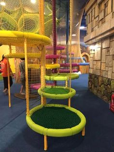 Indoor Play Certre - kids playground equipment - playgrounds for sale -Themed Indoor Playground Design for your market - Angel Playground Equipment Co. Kids Indoor Playground, Playground Design, Ideas Decorar Habitacion, Indoor Jungle Gym, Indoor Play Places, Parc A Theme, Backyard Trampoline, Backyard Toys, Kids Cafe
