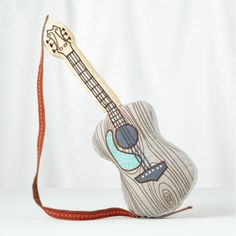 Plush Jamboree Acoustic Guitar | The Land of Nod designed exclusively by #1canoe2