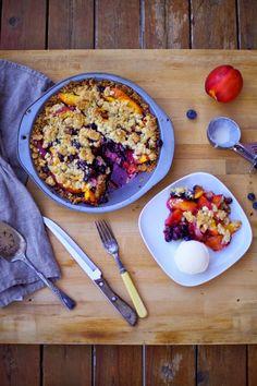 Poppytalk: Goodbye Summer Pie: Nectarine + Blueberry Pie With Sweet and Salty Oat Crust