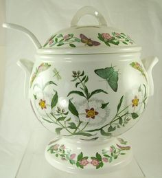 "Huge Portmerion Soup Tureen with Lid Ladle 12"" High 