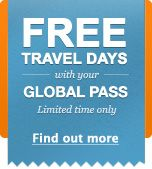 The Eurail Global Pass is the flexible and value-for-money train pass that takes you right to the center of top cities like Paris, Rome and Prague. Take a gondola ride in Venice, visit the Van Gogh Museum in Amsterdam or explore Berlin's underground art scene. Use day and night trains to make the journey of your dreams!    Why choosethe Global Pass?    Set out on the ultimate European travel adventure.  Explore up to 24 European countries by train.  Limited offer: get extra FREE travel…
