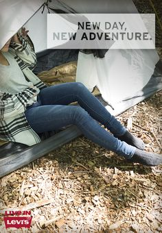 #LevisBeGifted Flexible for hiking, comfortable for camping. Step out of the norm and into your Levi's Skinny Jeans.