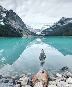 Tag who you'd stand with Lake Louise Alberta Canada  Photo by: @philippsalzborn  #TravelingOurPlanet and follow us to be featured! by travelingourplanet
