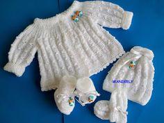 ** TRICO DA WANDERLY**: Casaquinho para Bebê em tricô