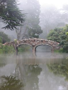 Stone Bridge in fog, San Francisco, CA by good_dood
