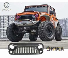 Matte Black New Front Grille Angry Bird Ⅱ Upgrade Fit For Jeep 07-16 JK Wrangler