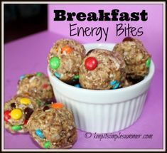 Breakfast Energy Bites - no-bake, full of protein, fiber, omega-3 fatty acids, antioxidants, and they actually taste good!