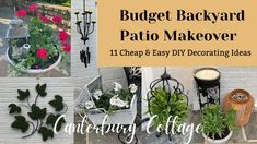 Porch Decorating, Decorating Ideas, Backyard Paradise, Patio Makeover, Dollar Store Crafts, Backyard Patio, Outdoor Gardens, Easy Diy, Projects To Try