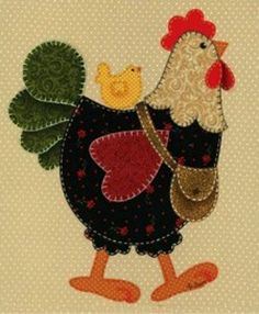 This would be a cute print or something for mom's house!  She loves chickens!