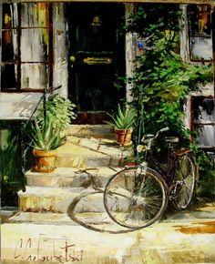 Russian artist Gleb Goloubetski   At home 78x63
