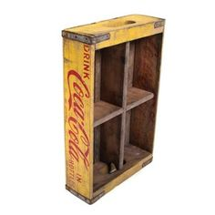 Coca cola crate.  Love!!